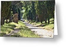 Appian Way In Rome Greeting Card
