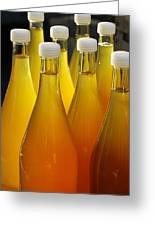 Apple Juice In Bottles Greeting Card