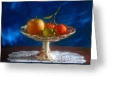 Apple Lemon And Mandarins. Valencia. Spain Greeting Card