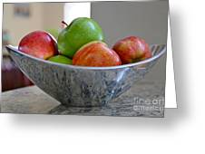 Apples In Fruit Bowl Greeting Card