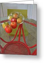 Apples In The Kitchen Greeting Card