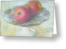 Apples Still Life Print Greeting Card