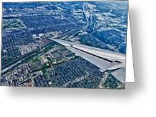 Approach Into Chicago Greeting Card