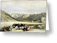 Approach To Mount Sinai Wady Barah Feby 17th 1839 Greeting Card