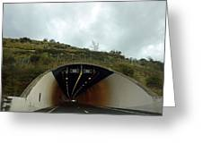 Approaching A Tunnel On A Highway In England Greeting Card