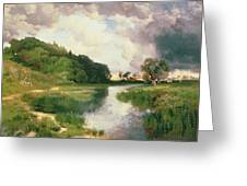 Approaching Storm Greeting Card by Thomas Moran