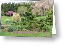 April Garden Greeting Card