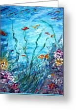 Aqua  Greeting Card by Mary Sedici