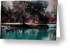 Aqua Pond Greeting Card