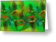 Aqua Residents Greeting Card