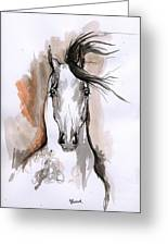 Arabian Horse Ink Drawing 2 Greeting Card