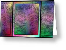 Arboreal Mist Trilogy Greeting Card