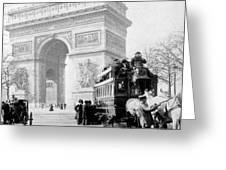 Arc De Triomphe - Paris France - C 1898 Greeting Card
