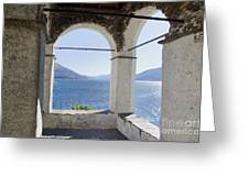 Arch And Lake Greeting Card