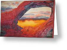 Arch Element Too Greeting Card by Vikki Wicks