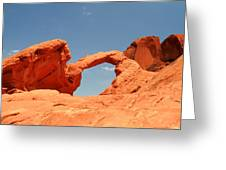 Arch Rock In Valley Of Fire Greeting Card