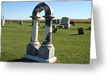 Arch Tombstone Greeting Card