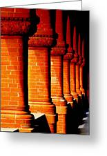 Archaic Columns Greeting Card by Karen Wiles