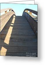 Arched Pedestrian Bridge At Martinez Regional Shoreline Park In Martinez California . 7d10525 Greeting Card