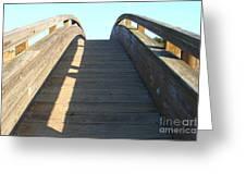 Arched Pedestrian Bridge At Martinez Regional Shoreline Park In Martinez California . 7d10526 Greeting Card