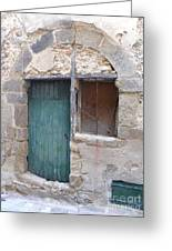 Arched Stone Work Over Door Greeting Card