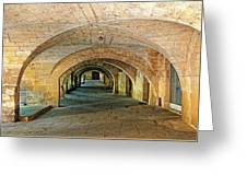 Arched Walkway In Provence Greeting Card