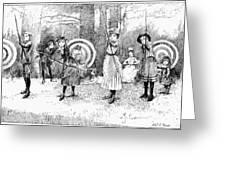 Archery, 1886 Greeting Card