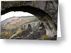 Arches And Mountains Greeting Card
