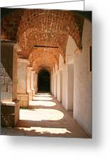 Arches And Shadows Greeting Card