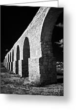 Arches Of The Kamares Aqueduct Larnaca Republic Of Cyprus Europe Greeting Card