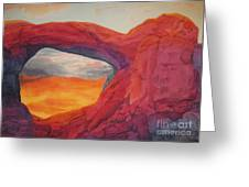 Arches Sunfire Greeting Card by Vikki Wicks