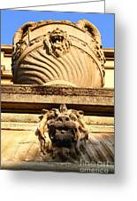 Architectural Detail . Large Urn With Lion Gargoyle  . Hearst Gym . Uc Berkeley . 7d10191 Greeting Card
