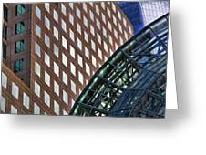 Architecture Building Patterns Greeting Card