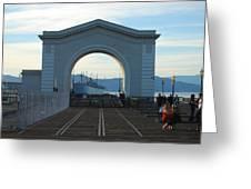 Archway Pier 39 San Francisco Greeting Card