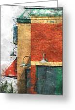 Arcitecture  Painted Effect Greeting Card