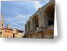 Arena In Arle Provence France Greeting Card