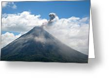 Arenal Eruption Greeting Card