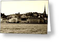 Arendal Cityscape Greeting Card