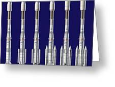 Ariane 4 Rocket Versions, Artwork Greeting Card by David Ducros