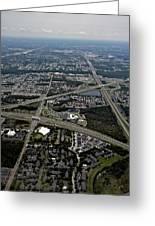 Ariel View Of Orlando Florida Greeting Card