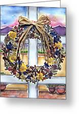 Arizona Wildflower Wreath Greeting Card by Regina Ammerman