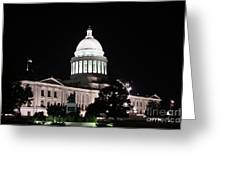 Arkansas State Capital Greeting Card by Joe Finney