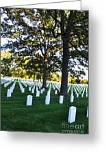 Arlington Cemetery Graves Greeting Card