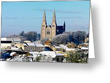 Armagh Cathedral In The Snow Greeting Card