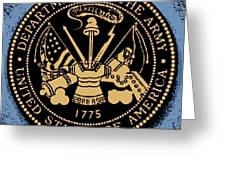 Army Medallion Greeting Card