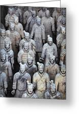Army Of Terracotta Warriors In Xian Greeting Card