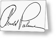 Arnold Palmer (1929-  ) Greeting Card