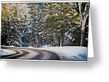 Around The Bend Greeting Card by Lisa  Spencer