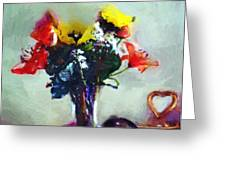 Arrangement Romantica Greeting Card