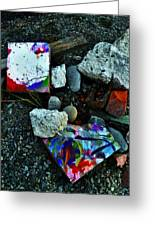 Art Amongst The Rubble Greeting Card
